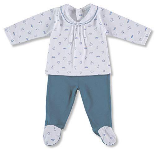 Babidu 54235, Ensemble de sous-vêtements unisexe pour bébé, bleu (céleste 001), 50 (Taille du fabricant : 0)