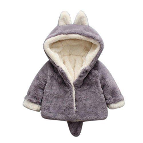 Vêtements bébé, Amlaiworld Bébé garçon fille automne hiver manteau manteau à capuche manteau manteau manteau épais veste vêtements chauds 0-36 mois (Taille : 0-6 mois,....
