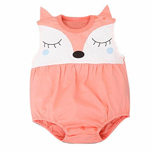 Amlaiworld Covermason Baby, Boys Newborn Girls of Fox's Baby Monkey Suits 0-24 mois (0-6 mois, Orange)