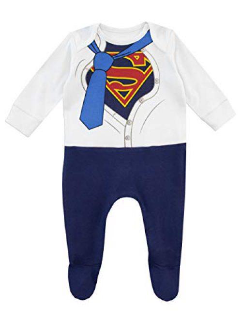 DC Comics Children's Full Pajama Superman Bleu 0-3 mois